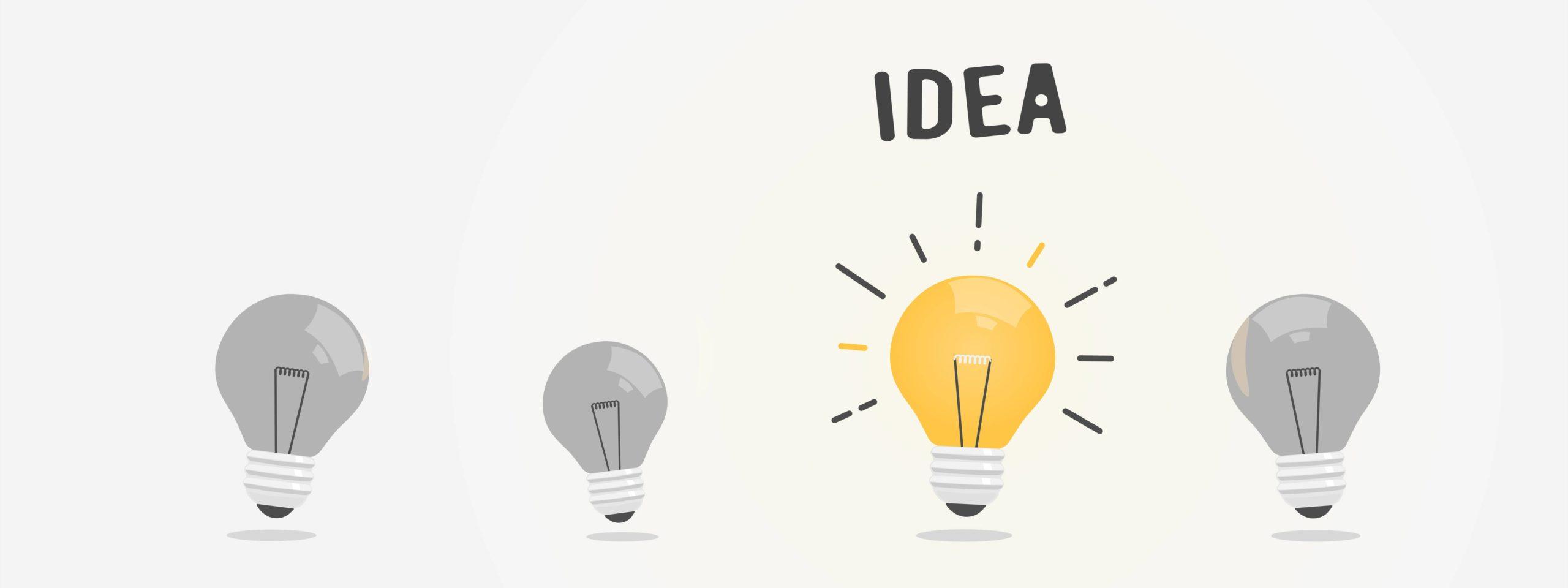 nouvelle idée imagée par une ampoule
